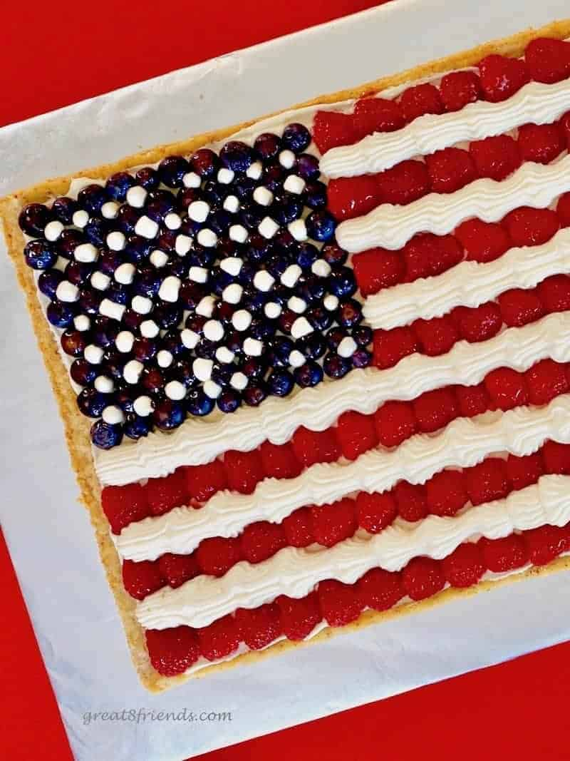 American Flag Fruit Pizza - Great Eight Friends